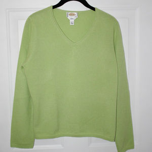 Talbots petites pure cashmere sweater L